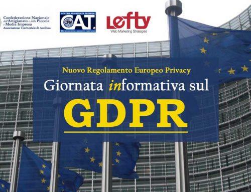 Una giornata (in)formativa sul GDPR: l'iniziativa di Lefty e CNA Avellino